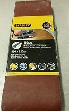 PK3 STANLEY LEVIGATRICE Cinghia 100 x 620 150 grammi / K (MED) FIT AEG, Bosch, Metabo, Makita, ecc.