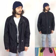 Vtg Helly Hansen Coat Black Biker Parka Windproof XL Jacket Water Resistant
