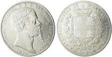 ITALIE  ,  SARDAIGNE  ,VICTOR  EMMANUEL II  5  LIRE  ARGENT  1854  ANCRE  GENES