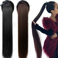 85cm Super Long Straight Clip In Tail False Hair Ponytail Hairpiece  Pony Tail