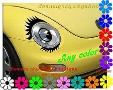 car EYELASHES & lowers & EYEballs Set VW beetle FACE round headlight Conforming