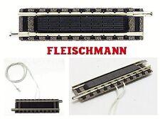 FLEISCHMANN 9115 BINARIO mm.55,5 con CONTACTO ELÉCTRICO INTERRUPTOR CONTROL