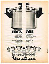 PUBLICITE ADVERSTISING  1973   MOULINEX   cocotte-minute inox alu