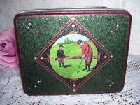 Advertising Tin Box Golf Scenes