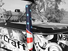 """Usa American Flag Boat Watercraft Trailer Guides Ons Steer On Pads 36"""" Guides"""
