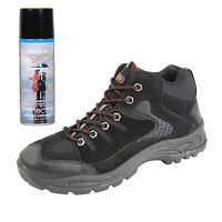 Mens New Hiking Walking Boots with Waterproof Spray Size 6 7 8 9 10 11 12