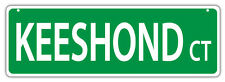 Plastic Street Signs: Keeshond Court | Dogs, Gifts, Decorations