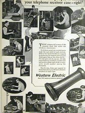 Western Electric Telephone Co. ELECTRICAL EQUIPMENT 1923 Advertisement Matted