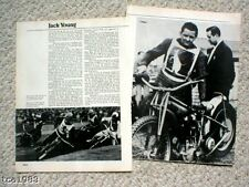vintage JACK YOUNG Speedway MOTORCYCLE Racing Article / Photos: JAP,
