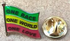 Rastafarian Pan-African Flag One Race World Love Lapel Pin Badge Peace Reggae