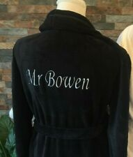 Luxury Embroidered  gift Mr and Mrs 100% terry cotton matching dressing gowns x2