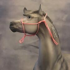 Breyer Traditional 1:9 Scale Handmade Pink Rope Halter Model Horse Tack