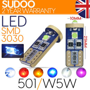501 w5w T10 LED 3030  3 SMD Car Bulb Light Canbus error FREE NEW for 2021
