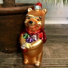 Winnie The Pooh Disney Blown Glass Christmas Tree Ornament 5 inches Tall