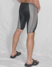 "SPEEDO Swim SHORTS Gray FASTSKIN Jammers Spandex Small Waist 28"""