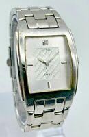 Men's GUESS All Stainless Steel Silver Tone Watch, Analog, Quartz, Runs G95323G