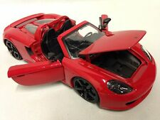 "2005 Porsche Carrera GT, Collectible 8.25""  Diecast 1:24 Scale, Jada Toys, Red"