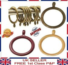 Strong Plastic Quality Curtain Rings For Poles Rods Golden Brown 30 mm 40 mm