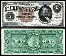 CRISP UNC. 1886 $5.00 SILVER CERTIFICATE COPY PLS READ DESCRIPTION!