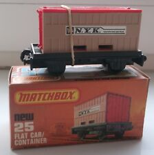 Matchbox Car 75 Flat Car Container MINT Condition with Box