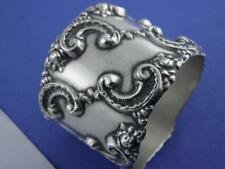 Victorian Sterling Blackinton Napkin Ring ~ very ornate floral scroll repousse