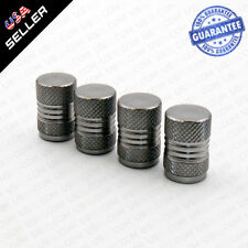 Universal Aluminum Auto Car Wheels Tire Valves Dust Stems Air Caps - Gun Grey