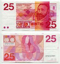 25 Gulden Niederlande 10.2.1971  Erhaltung III, P. 92a