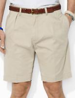 "Polo Ralph Lauren Mens Chino Shorts  Classic Fit Colour Hudson Tan Pleated 40"""