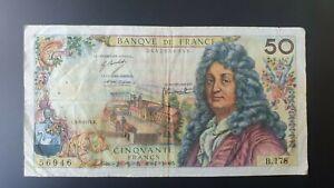 BANQUE DE FRANCE 50 FRANCS RACINE 03.06.71 / B.178 / 56946 FINE
