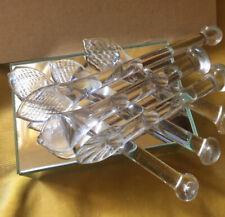 More details for vintage handmade handblown victorian antique set of 6 glass sugar crushers