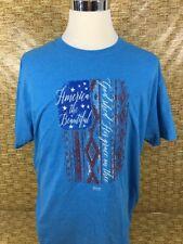 AMERICA The Beautiful Light Blue Adult X-Large T-shirt Short Sleeve Size XL Tee