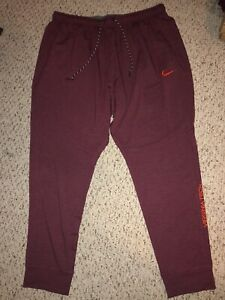 NEW Nike Virginia Tech Hokies Football Team Issued Travel Pants XXL
