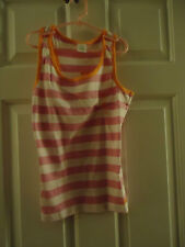 NEW!!  GYMBOREE Girls Pink & White Stripped Tank Top Size 12