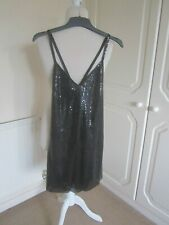 VGC UNBRANDED FROM IBIZA BLACK HEAVY CHAIN DRESS SIZE S 8-10
