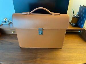 RARE Authentic Delvaux Caramel/Tan Leather Briefcase Bag Attache RRP>£3000