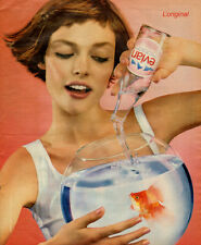Modern print AD EVIAN Spring Water Lovely model pours in Goldfish bowl  041417