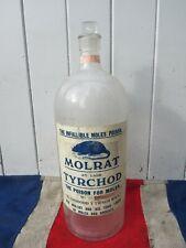More details for glass molrat antique vintage style? apothecary poison rat mole medicine chemist