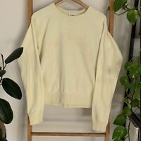 The Upside Womens Pastel Yellow Crew Neck Pullover Jumper Size AU XS US 4