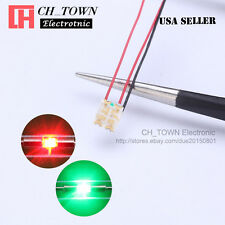 10PCS Pre Wired 1206 3227 SMD Bi-Color Red Green Light Pre-Soldered LED Diodes