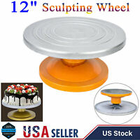 "12"" Sculpting Wheels Banding Pottery Clay Turntable Metal Bearing / Cake Spinner"