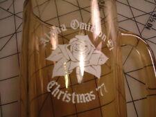 AOII Alpha Omicron Pi Fraternity gold glass beer mug rose sorority CHRISTMAS '77