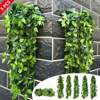 Artificial Ivy Leaf Vine Fake Foliage Green Hanging Garland Plant Wedding
