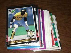 RICKEY HENDERSON Baseball Card Pick Any Inserts SP - NM & Better 1985-2000