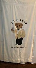 "Ralph Lauren Vintage Polo Bear Tuxedo Beach Towel Martini  Bear NWT 70""x 36"""