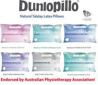 Dunlopillo Luxurious Talalay Latex Soft  Classic Medium  High Firm  Dual Pillows