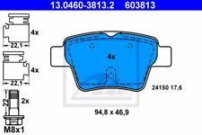 Bremsbelagsatz, Scheibenbremse für Bremsanlage Hinterachse ATE 13.0460-3813.2