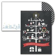 Chalkboard Tree Boxed Holiday Christmas Cards - Set of 16