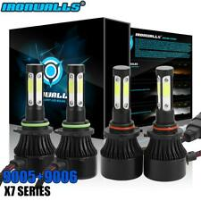 Combo 9005 HB3 9006 HB4 CREE LED Headlight Kit Hi Low Beam 6000K 4800W 720000LM