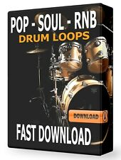 Pop Soul RNB Drum Loops WAV Samples Pro Tools FL Studio Ableton Logic Pro Reason