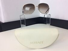 Versace Ladies Sunglasses 2105 1000/13 59 15 135 TV5 Good Condition